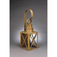 Northeast Lantern 5031-AB-MED-CLR Suffolk 1 Light 18 inch Antique Brass Outdoor Wall Lantern in Clear Glass, Medium