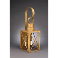 Suffolk 2 Light 21 inch Antique Brass Outdoor Wall Lantern in Clear Glass, No Chimney, Candelabra