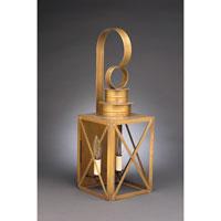 Northeast Lantern 5041-AB-LT2-CLR Suffolk 2 Light 21 inch Antique Brass Outdoor Wall Lantern in Clear Glass, No Chimney, Candelabra