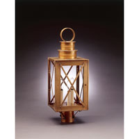 Northeast Lantern Suffolk 3 Light Post in Antique Brass 5053-AB-LT3-CLR photo thumbnail