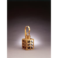 Northeast Lantern Suffolk 1 Light Outdoor Wall Lantern in Antique Brass 5111-AB-MED-CLR