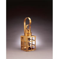 Northeast Lantern Suffolk 1 Light Outdoor Wall Lantern in Antique Brass 5131-AB-MED-CLR