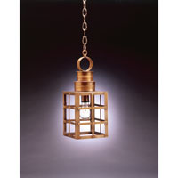Suffolk 1 Light 6 inch Antique Brass Hanging Lantern Ceiling Light in Clear Glass