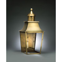 Sharon 2 Light 26 inch Antique Brass Outdoor Wall Lantern in Clear Glass, No Chimney, Candelabra