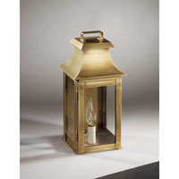 Northeast Lantern Concord 1 Light Outdoor Wall Lantern in Antique Brass 5611-AB-LT1-CLR