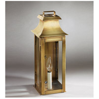 Northeast Lantern 5621-AB-LT1-CLR Concord 1 Light 16 inch Antique Brass Outdoor Wall Lantern in Clear Glass, No Chimney, Candelabra