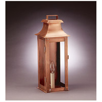 Northeast Lantern Concord 1 Light Outdoor Wall Lantern in Antique Copper 5621-AC-LT1-CLR