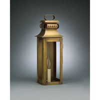 Northeast Lantern Concord 1 Light Outdoor Wall Lantern in Antique Brass 5621R-AB-LT1-CLR