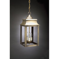 Concord 3 Light 9 inch Antique Brass Hanging Lantern Ceiling Light in Clear Glass