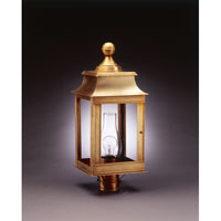 Concord 1 Light 23 inch Antique Brass Post Lantern in Clear Glass, Chimney, Medium