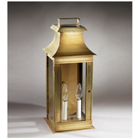 Concord 2 Light 20 inch Antique Brass Outdoor Wall Lantern in Clear Glass, No Chimney, Candelabra