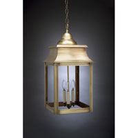 Concord 3 Light 12 inch Antique Brass Hanging Lantern Ceiling Light in Clear Glass