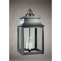 Concord 3 Light 12 inch Dark Brass Hanging Lantern Ceiling Light in Clear Glass