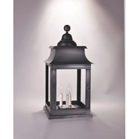 Concord 3 Light 25 inch Dark Brass Pier Mount in Clear Glass, No Chimney, Candelabra