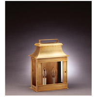 Northeast Lantern Concord 2 Light Outdoor Wall Lantern in Antique Brass 5711-AB-LT2-CLR