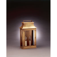 Northeast Lantern Concord 2 Light Outdoor Wall Lantern in Antique Brass 5721-AB-LT2-CLR