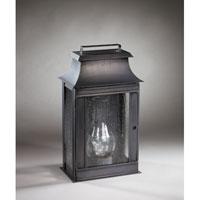 Northeast Lantern 5721-DB-CIM-SMG Concord 1 Light 16 inch Dark Brass Outdoor Wall Lantern in Seedy Marine Glass, Chimney, Medium