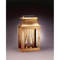 Concord 1 Light 20 inch Antique Brass Outdoor Wall Lantern in Clear Glass, Chimney, Medium