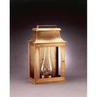 Northeast Lantern Concord 1 Light Outdoor Wall Lantern in Antique Brass 5751-AB-CIM-CLR photo thumbnail