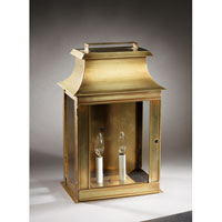 Northeast Lantern Concord 2 Light Outdoor Wall Lantern in Antique Brass 5751-AB-LT2-CLR