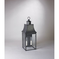 Northeast Lantern Bristol 2 light Wall Light in Dark Brass 5931-DB-LT2-CLR