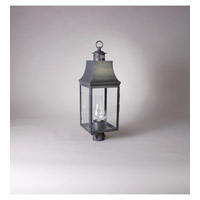 Northeast Lantern Bristol 1 light Post Mount in Dark Brass 5933-DB-CIM-CLR