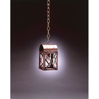Adams 1 Light 5 inch Dark Brass Hanging Lantern Ceiling Light in Clear Glass