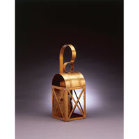 Northeast Lantern Adams 1 Light Outdoor Wall Lantern in Antique Brass 6031-AB-MED-CLR