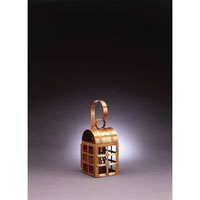 Northeast Lantern Adams 1 Light Outdoor Wall Lantern in Antique Brass 6111-AB-MED-CLR