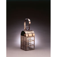 Adams 1 Light 18 inch Dark Antique Brass Outdoor Wall Lantern in Seedy Marine Glass, Standard Scroll, Medium