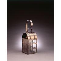 Northeast Lantern 6131-DAB-MED-SMG Adams 1 Light 18 inch Dark Antique Brass Outdoor Wall Lantern in Seedy Marine Glass, Standard Scroll, Medium