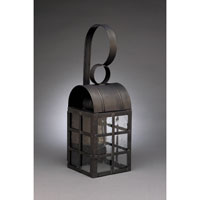 Adams 1 Light 18 inch Dark Brass Outdoor Wall Lantern in Clear Seedy Glass, Standard Scroll, Medium