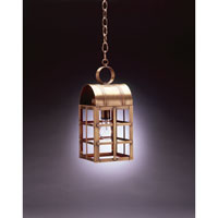 Northeast Lantern 6132-AB-MED-CLR Adams 1 Light 6 inch Antique Brass Hanging Lantern Ceiling Light in Clear Glass photo thumbnail