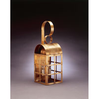 Northeast Lantern 6141-AB-LT2-CLR Adams 2 Light 22 inch Antique Brass Outdoor Wall Lantern in Clear Glass Candelabra