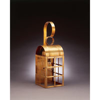 Northeast Lantern Adams 1 Light Outdoor Wall Lantern in Antique Brass 6141-AB-MED-CLR