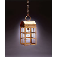 Northeast Lantern 6142-AB-MED-CLR Adams 1 Light 7 inch Antique Brass Hanging Lantern Ceiling Light in Clear Glass, Medium photo thumbnail