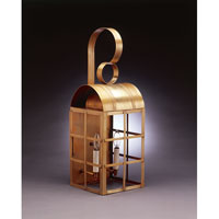 Northeast Lantern Adams 2 Light Outdoor Wall Lantern in Antique Brass 6151-AB-LT2-CLR