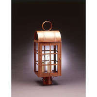 Northeast Lantern Adams 3 Light Post in Antique Brass 6153-AB-LT3-CLR photo thumbnail