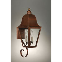 Imperial 2 Light 21 inch Antique Copper Outdoor Wall Lantern in Clear Glass