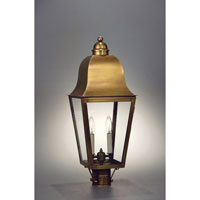 Imperial 3 Light 26 inch Antique Brass Post Lantern in Clear Glass