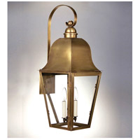 Northeast Lantern Imperial 2 Light Outdoor Wall Lantern in Antique Brass 6417-AB-LT2-CLR