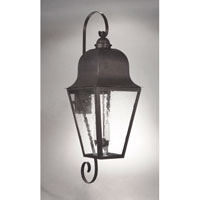 Imperial 3 Light 39 inch Dark Brass Outdoor Wall Lantern in Clear Seedy Glass