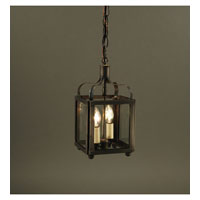 Crown 2 Light 6 inch Dark Brass Hanging Lantern Ceiling Light in Clear Glass