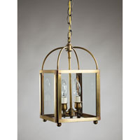 Signature 2 Light 8 inch Antique Brass Chandelier Ceiling Light in Clear Glass