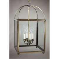 Northeast Lantern 6832-AB-LT4-CLR Signature 4 Light 13 inch Antique Brass Chandelier Ceiling Light in Clear Glass