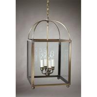 Northeast Lantern 6832-DAB-LT4-CLR Signature 4 Light 13 inch Dark Antique Brass Chandelier Ceiling Light in Clear Glass