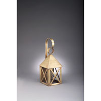 Northeast Lantern York 1 Light Outdoor Wall Lantern in Antique Brass 7011-AB-MED-CLR