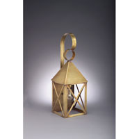 York 1 Light 19 inch Antique Brass Outdoor Wall Lantern in Clear Glass, Medium