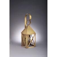 Northeast Lantern 7031-AB-MED-CLR York 1 Light 19 inch Antique Brass Outdoor Wall Lantern in Clear Glass, Medium