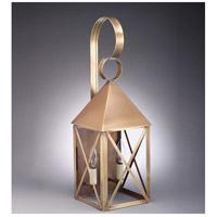 Northeast Lantern 7041-AB-LT2-CLR York 2 Light 23 inch Antique Brass Outdoor Wall Lantern in Clear Glass, Candelabra
